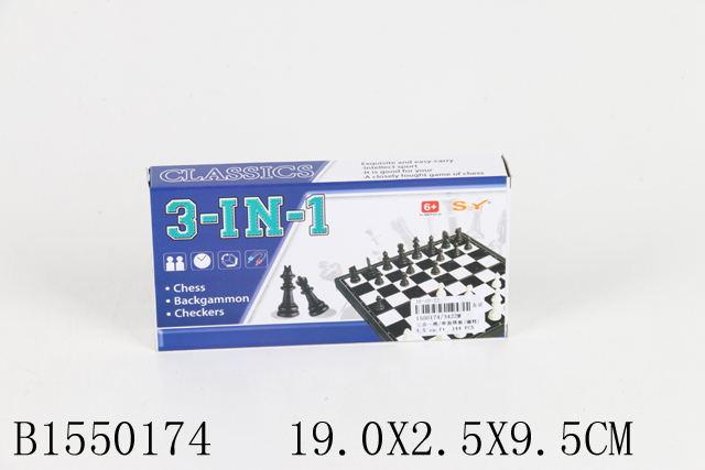 Шахматы 3в1 3422М