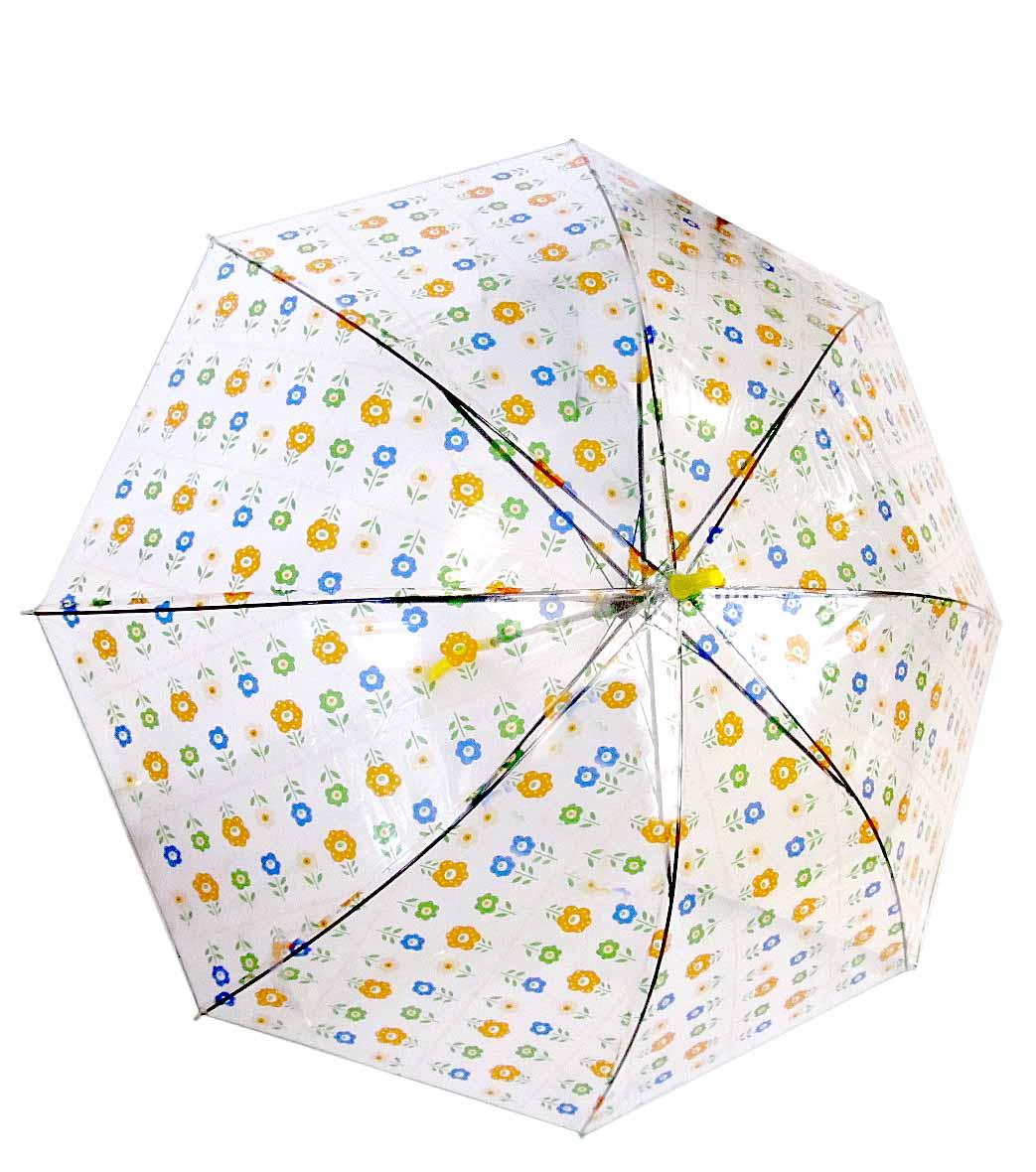 Зонт прозрачный, куполом,полуавтомат, №278-282