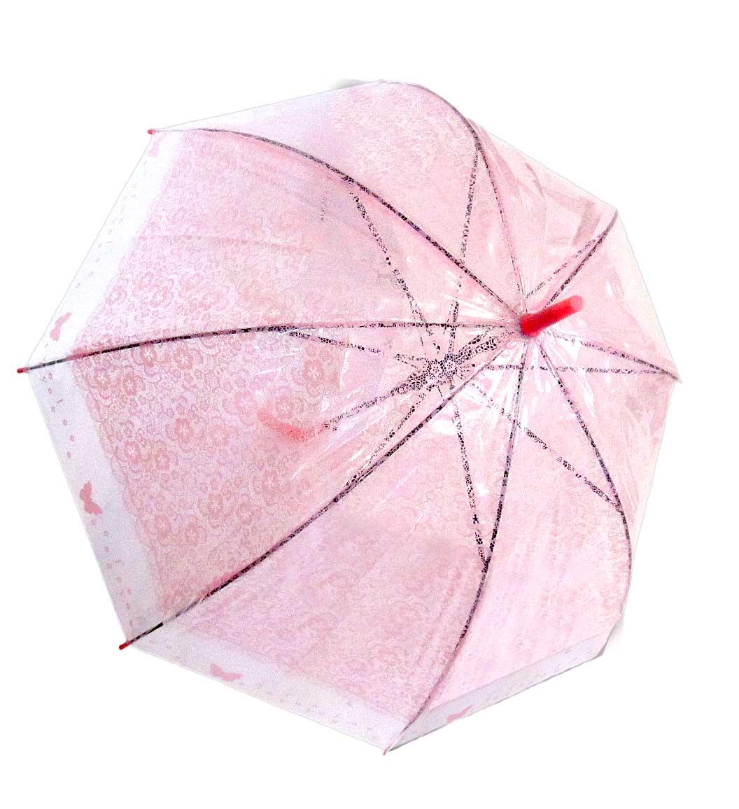 Зонт прозрачный,ажурный, куполом,полуавтомат, №278-283