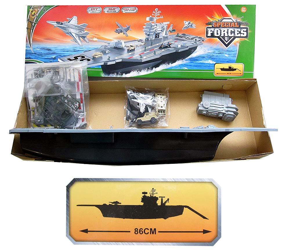 Военный корабль №Р849-А с техникой/коробка/72*10*22