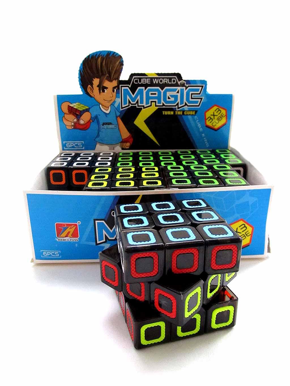 Кубик-Рубик (фосфор) 6 шт в блоке 2188-11