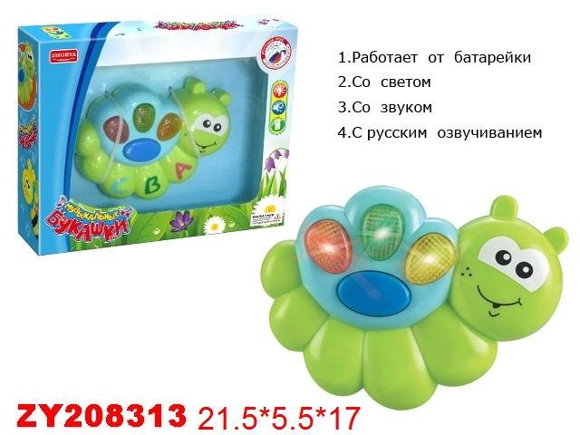 Музыкальные букашки Улитка (русс.яз., подсветка)A0413-3/3623
