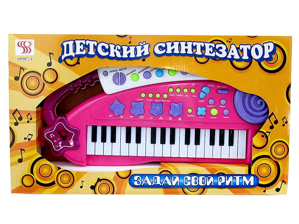 Синтезатор детский  №SD987-A/коробка/48*6*27