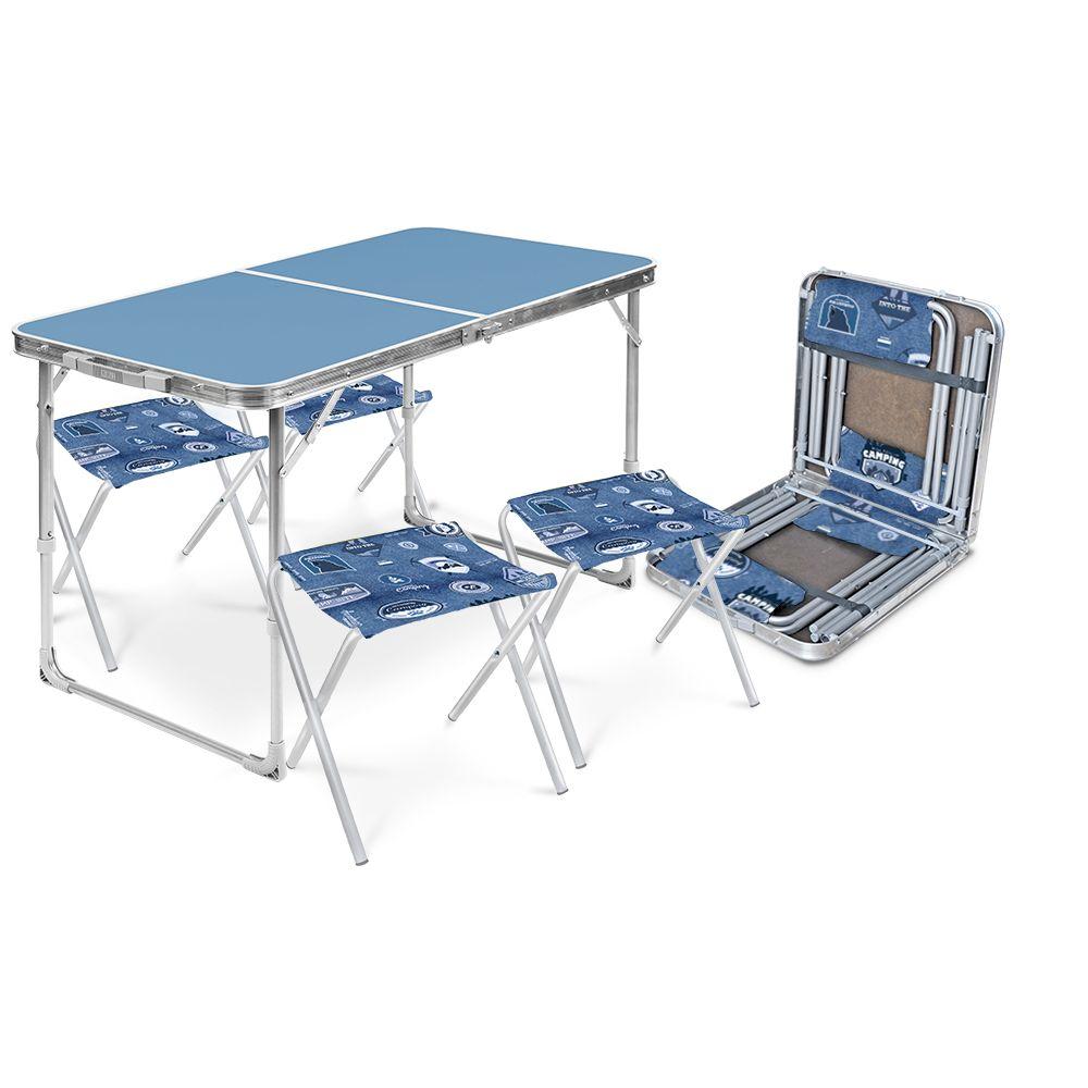 Набор ССТ-К2 стол (пласт) и 4 стула ССТ-К2