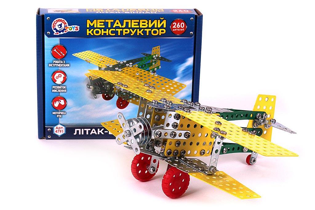 Конструктор 4791 метал. САМОЛЕТ-БИПЛАН