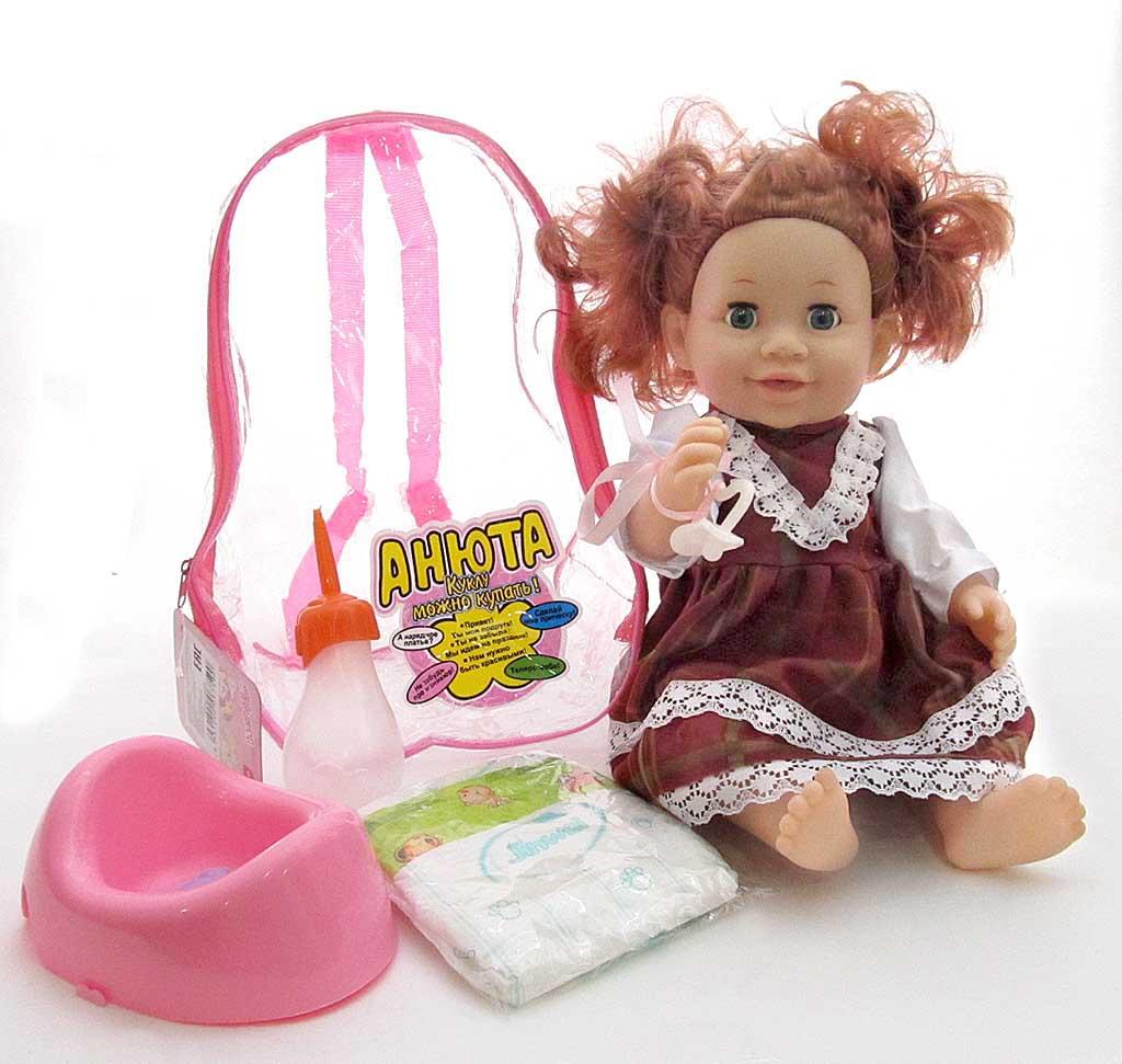 Кукла Анюта 31353А3/6759 в рюкзаке