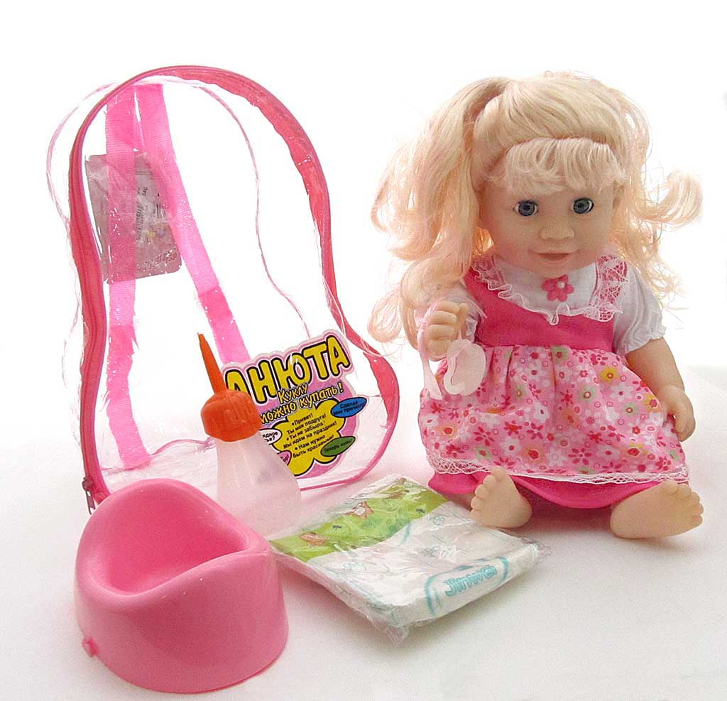 Кукла Анюта 31353В13/6790 в рюкзаке