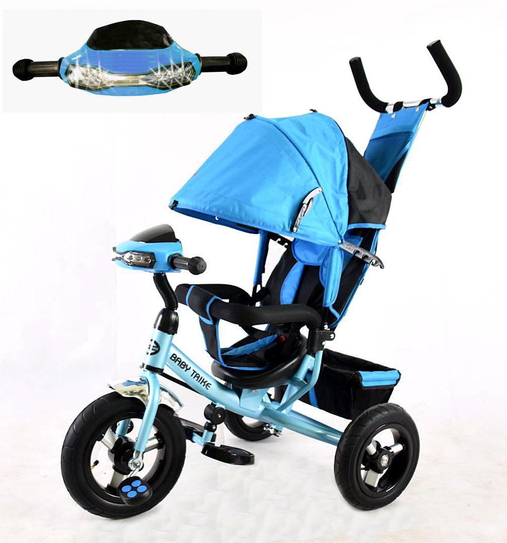 Велосипед 3х колесный YM-CBK-49 Blue (фара, свет,муз)