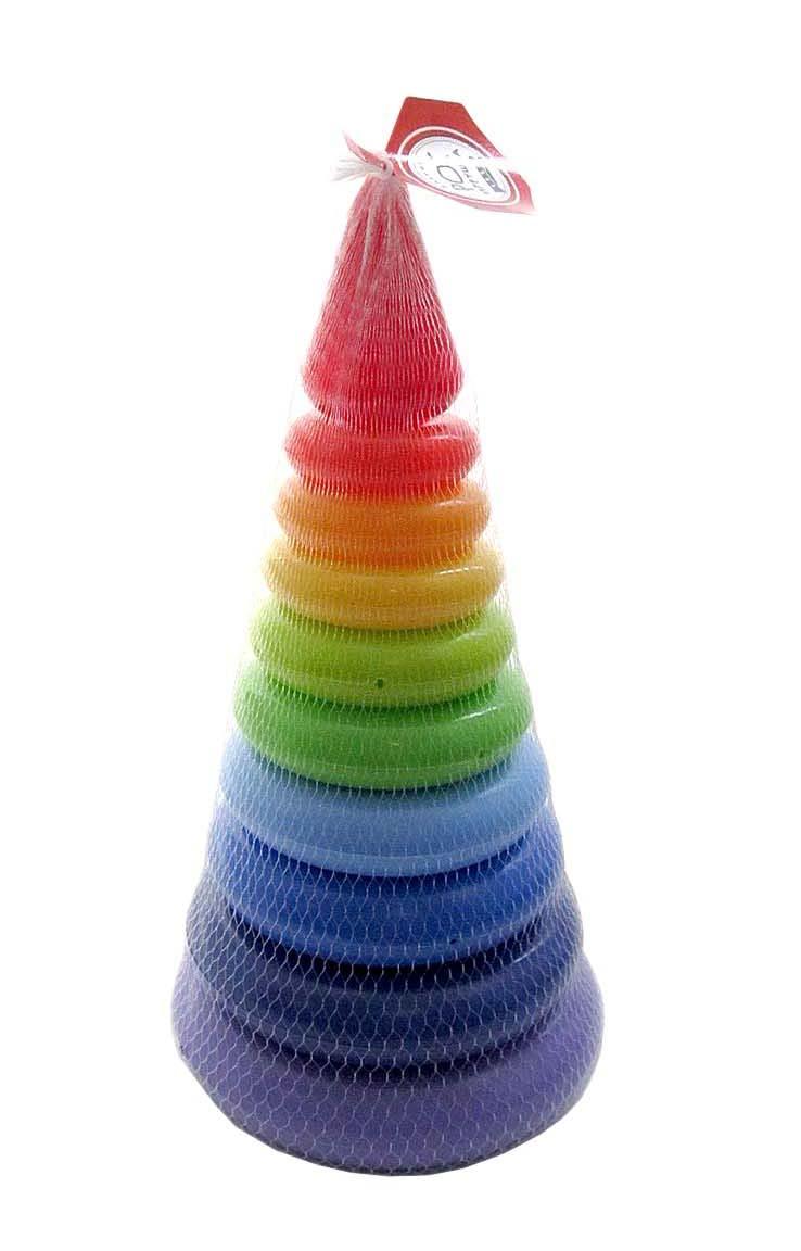 """Пирамида """"Радуга"""", 29 см (в сетке, 11 дет.)9221"""