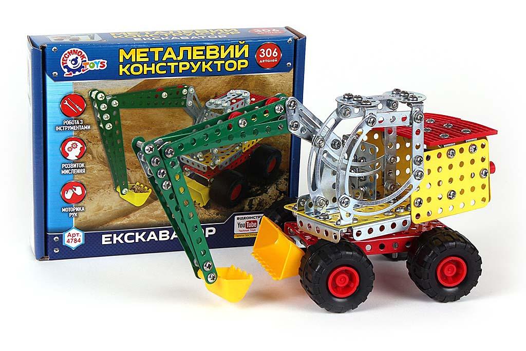 Конструктор металлический ЭКСКАВАТОР 4784