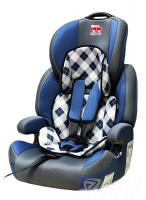 Автокресло детское 9-36 кг. Little Car Brave Isofix клетка-синий 129377