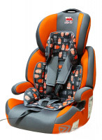 Автокресло детское 9-36 кг. Little Car Brave Isofix совы-оранжевый 129370