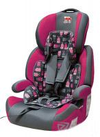 Автокресло детское 9-36 кг. Little Car Brave Isofix совы-розовый 129373