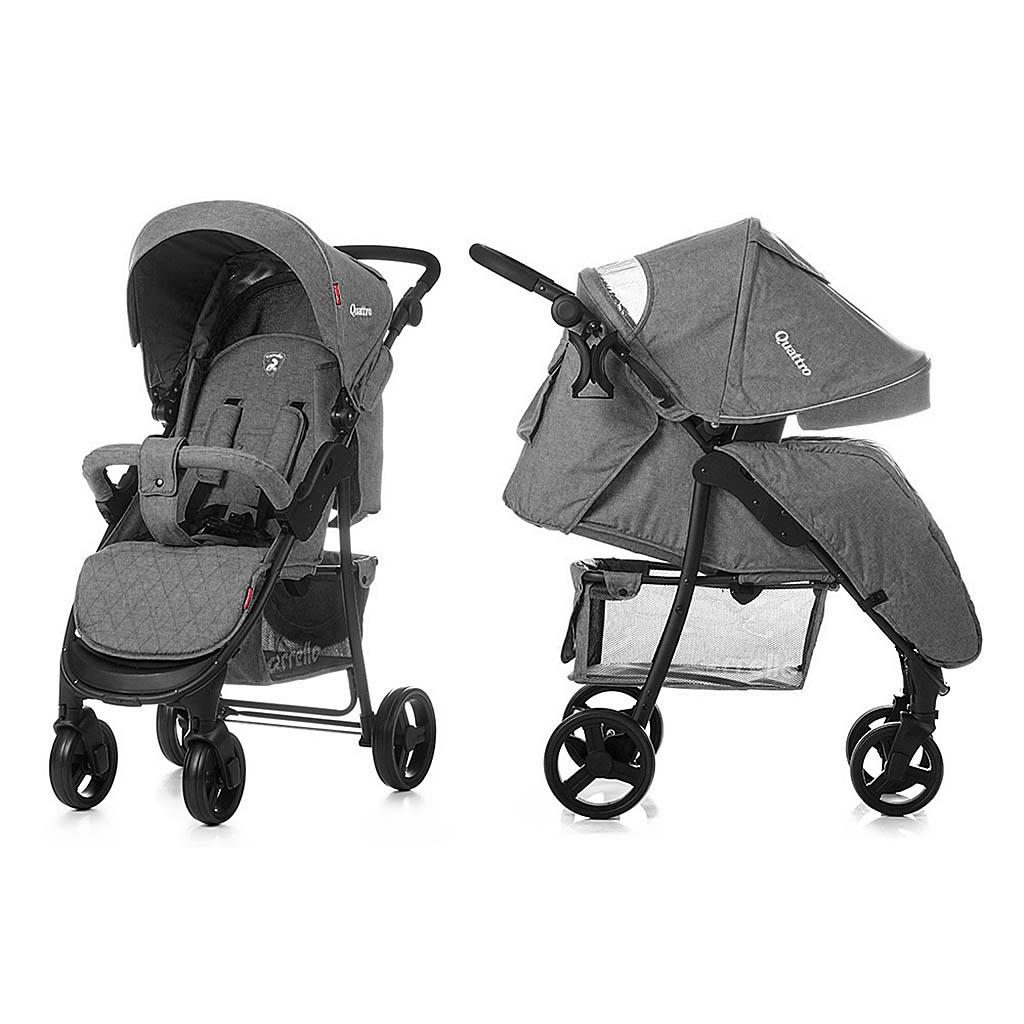 Детская коляска CARRELLO Quattro CRL-8502  GREY / Storm Gray