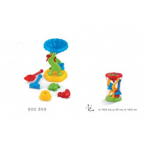 Мельница, лопата,  грабли, 3 формы для песка 900659