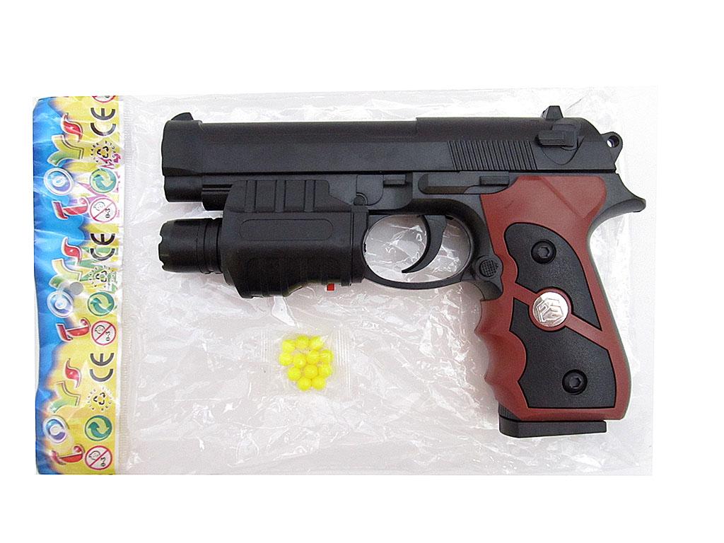 Пистолет №779-1 с фонариком /пакет(21*14*3)