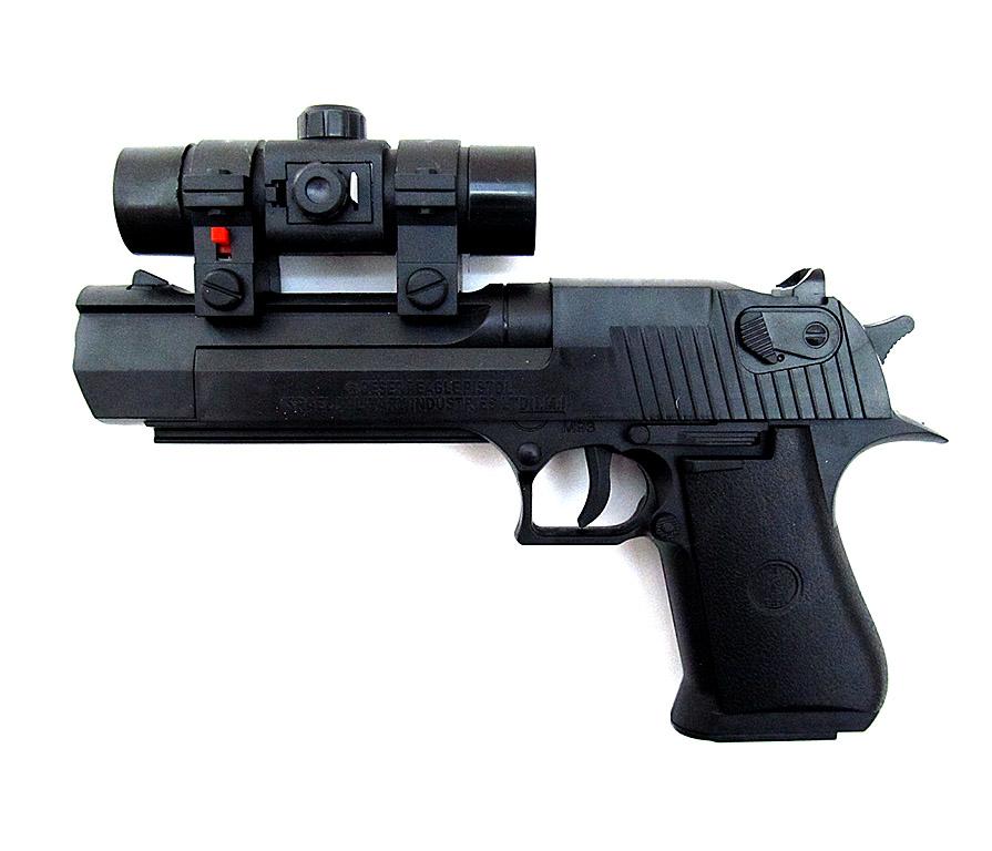 Пистолет №M93+ с прицелом/пакет(22,5*12,5*3