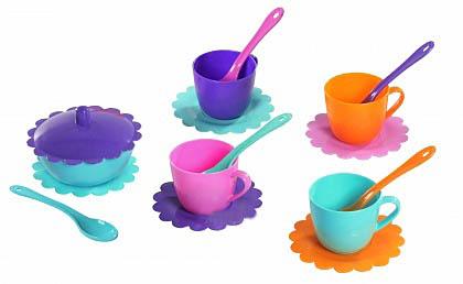 """Набор посуды """"Ромашка"""" на 4 персоны с сахарницей ЛЮКС 39088"""