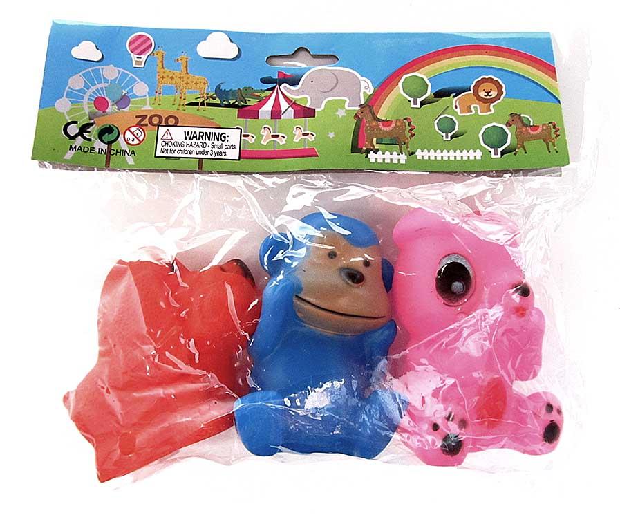 Набор игрушек для купания (резина, пищалка) 1352-26