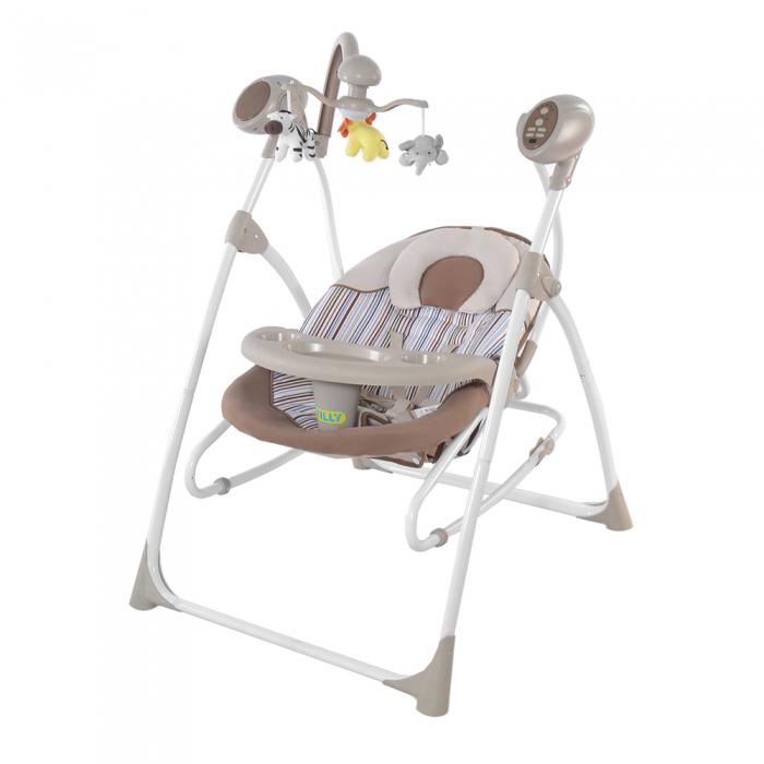 Колыбель-качели детские CARRELLO Nanny 3в1 CRL-0005 Beige Dot