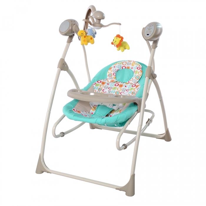 Колыбель-качели детские CARRELLO Nanny 3в1 CRL-0005 Grey Dino