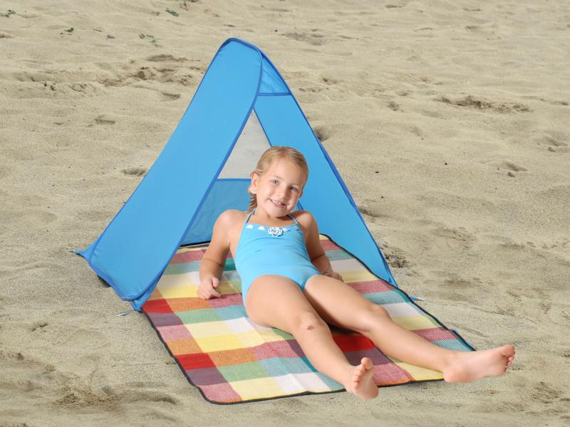 803 INDIO Раскрывающаяся пляжная палатка и плед
