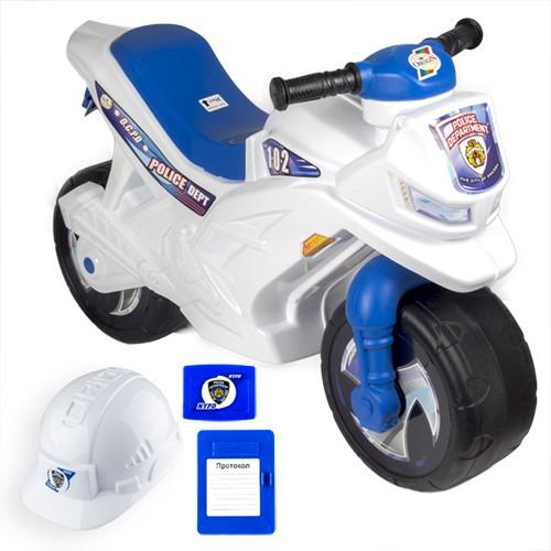 Мотоцикл (501в4) 2-х колесный+(шлем,значок,протокол)-музыкальный (3шт)