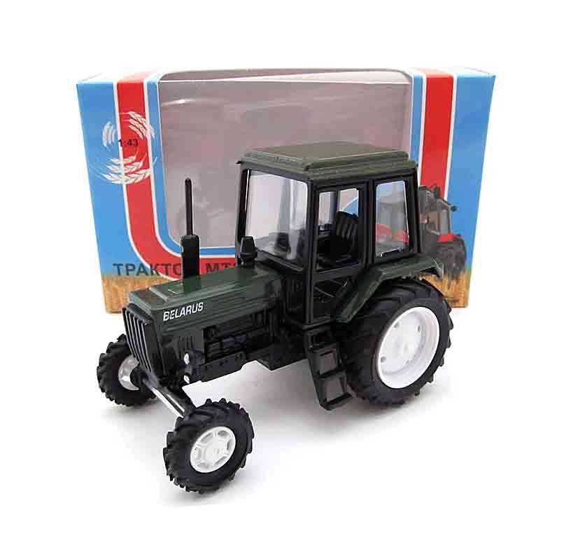 """1:43 трактор МТЗ-82 """"Люкс-2"""" (кабина и корпус-зеленый) 160367"""