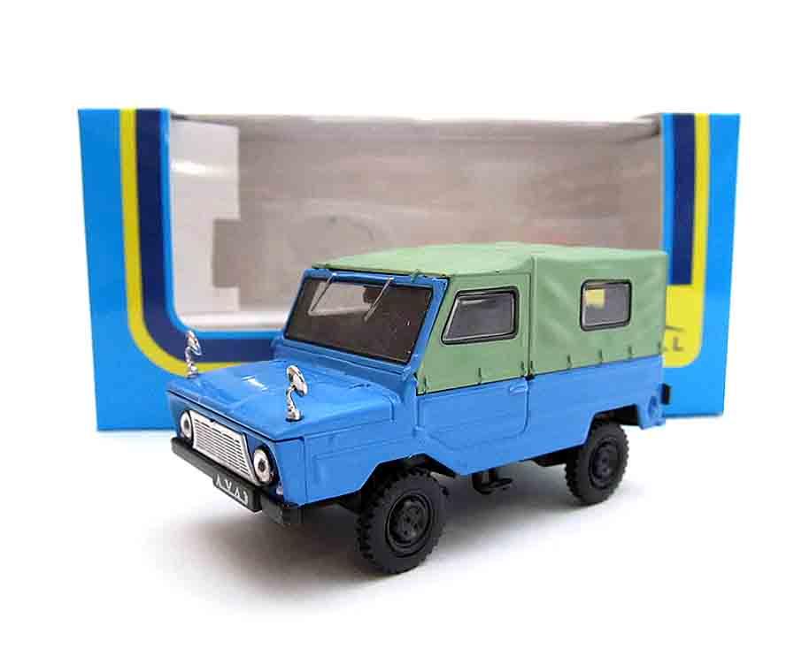 """1:43 сувенирная модель ЛуАЗ-969 """"Волынь"""" (голубой-зеленый) де070"""