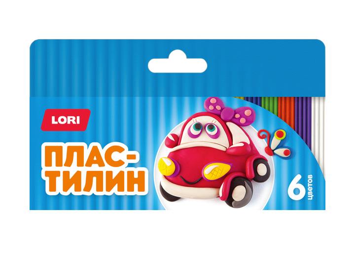 Пластилин Детский 6 цветов, по 15 гр., с е/п, стекПл-018