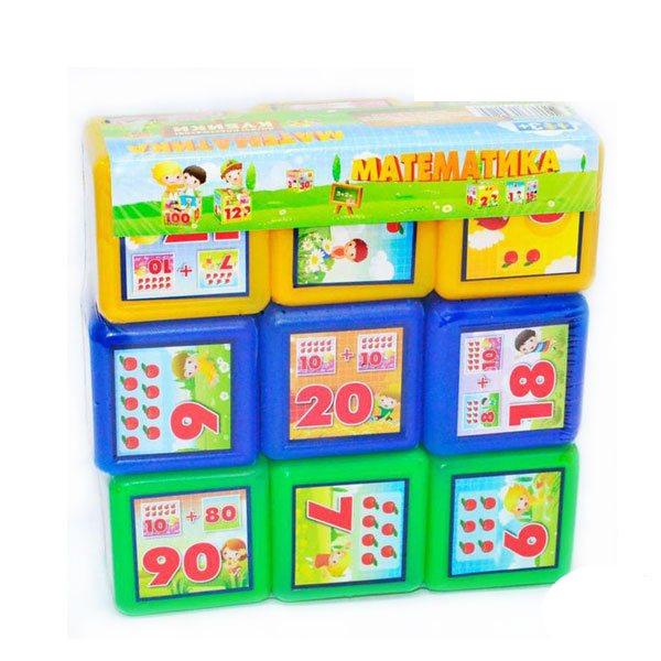 Кубики Математика 9 шт МР