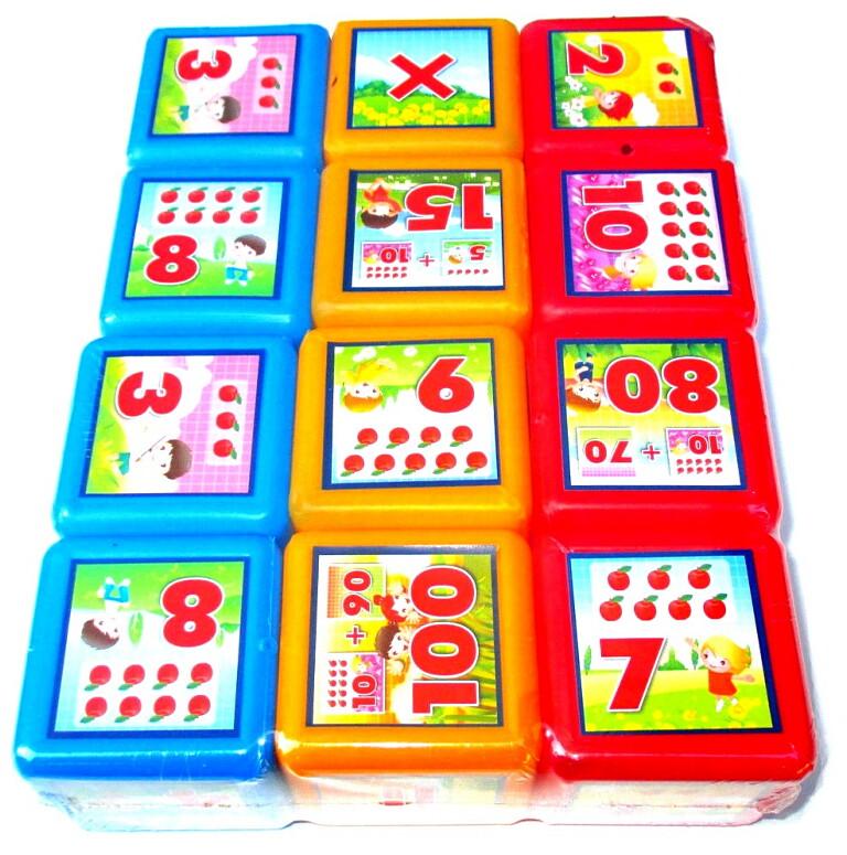 Кубики Математика 12 шт МР