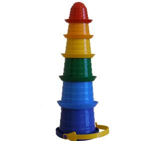 """Пирамидка """"Сомбреро 2"""" в кульку (6 ведерок)(Технок)"""