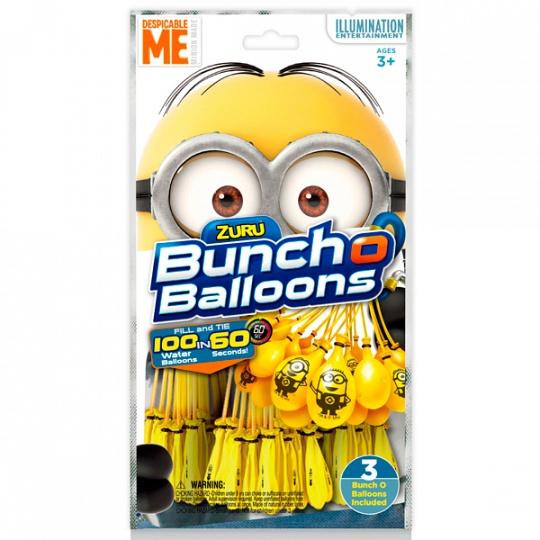 """5653Z Bunch O Balloons Стартовый набор """"Миньоны"""": 100 шаров, пол.пакет"""