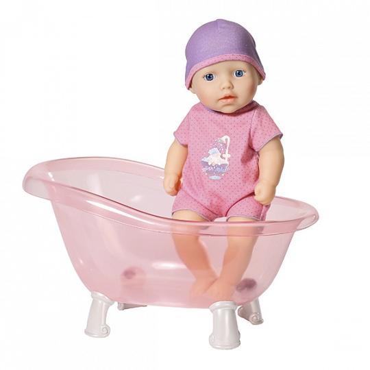 700-044 my first Baby Annabell Кукла твердотелая с ванночкой, 30 см, дисплей