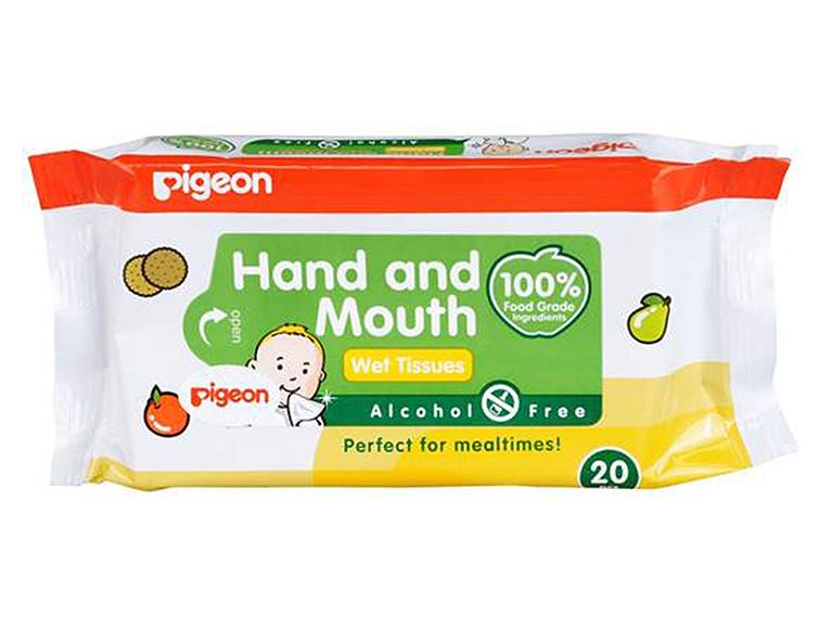 Влажные салфетки PIGEON для сосок, игрушек, фруктов 20 шт