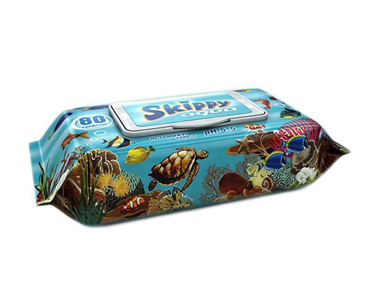 Влажные салфетки д/детей Skippy Aqua (80шт)