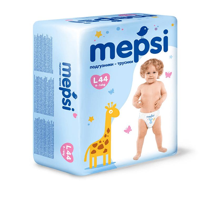 MEPSI Трусики L 9-16 44шт