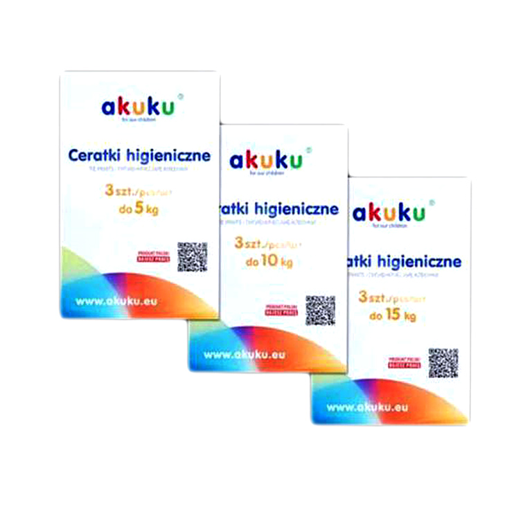 А0032 Гигиенические клеенки akuku 3 шт.