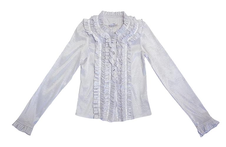 Блуза белая с дл.рук. 32307