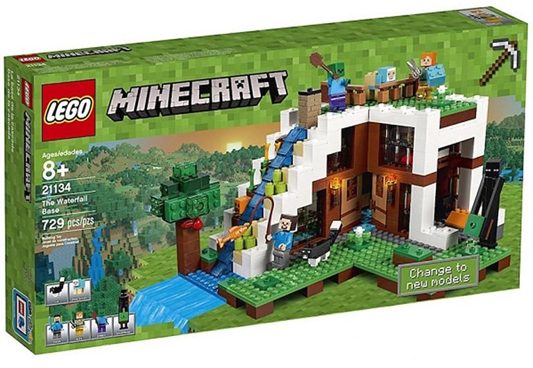 """21134 Конструктор LEGO Minecraft """"База на водопаде"""""""