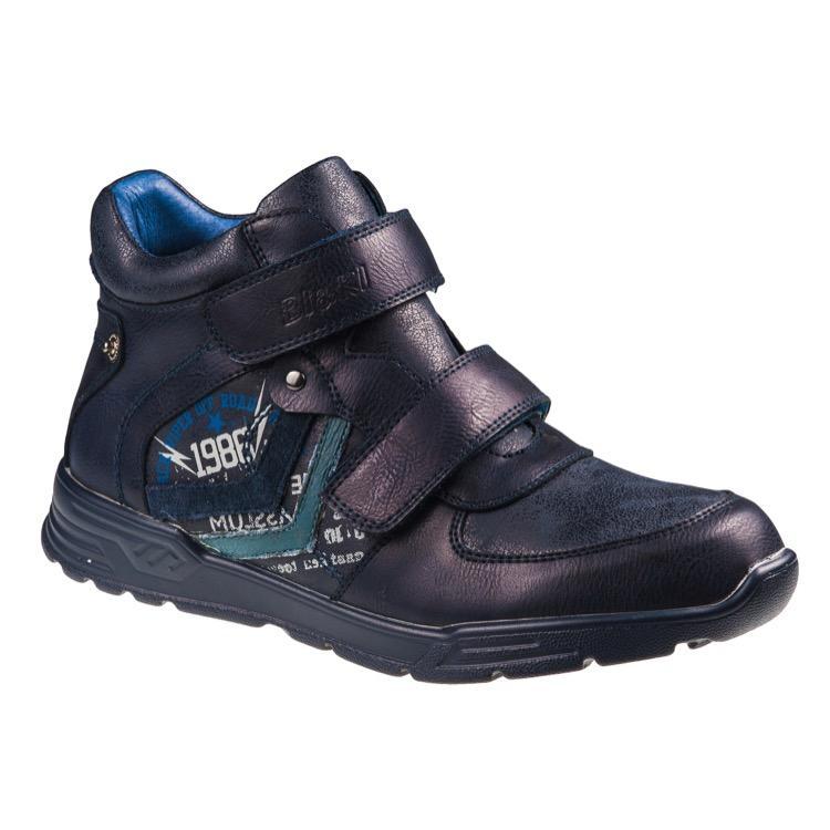 A-B23-14-B Ботинки мальч 33-38 т.синий