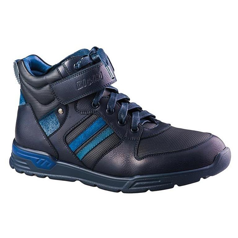 A-B23-10-B Ботинки мальч. 33-38 т.синий