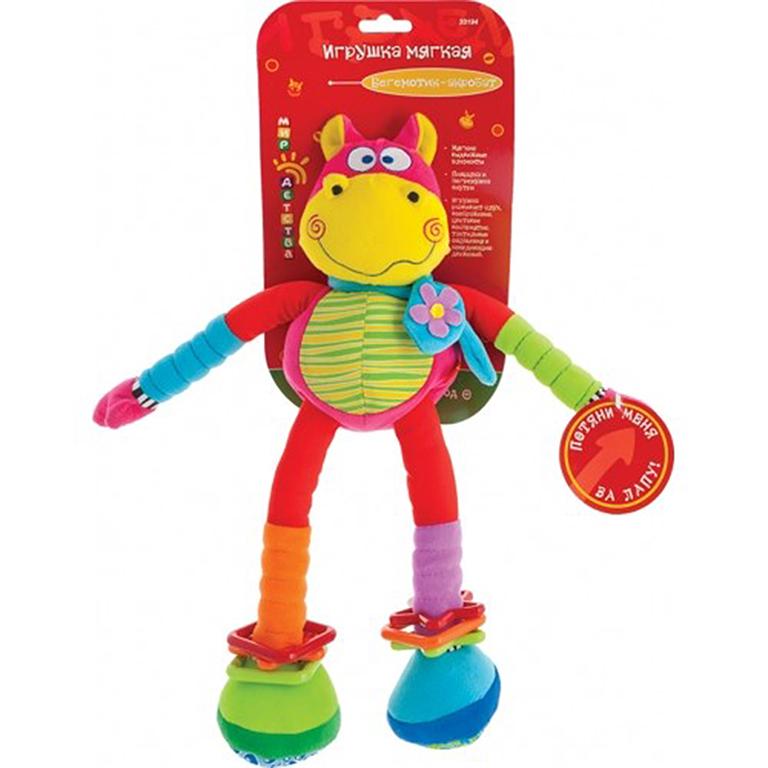 """33194 Развивающая мягкая игрушка """"Бегемот-акробат"""""""