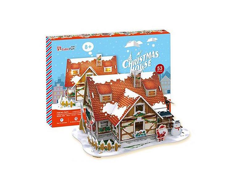647 Рождественский домик 1 ( с подсветкой )