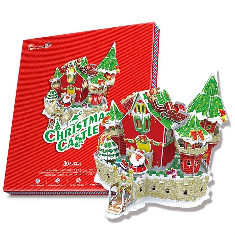 646 Сказочный рождественский замок ( с подсветкой )