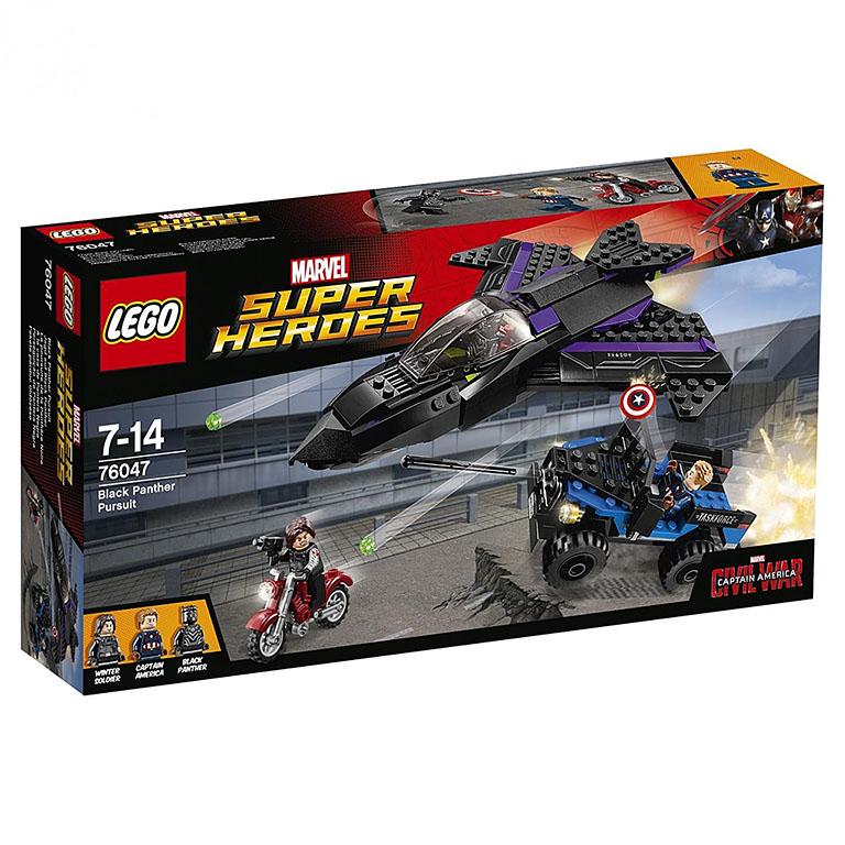 """76047 Super Heroes """"Преследование Чёрной Пантеры"""""""
