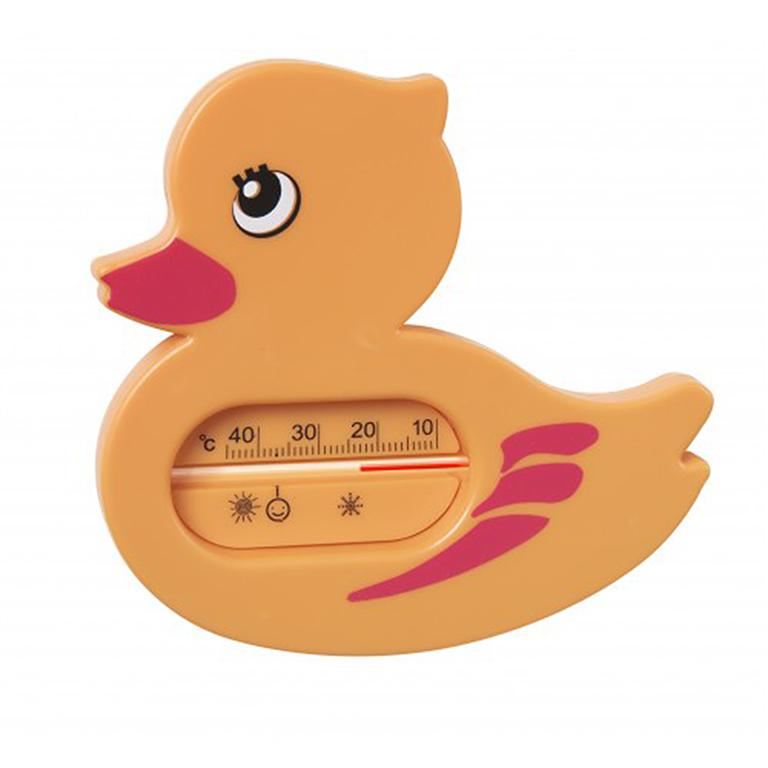 """19002 Термометр для ванной """"Уточка"""" оранж"""