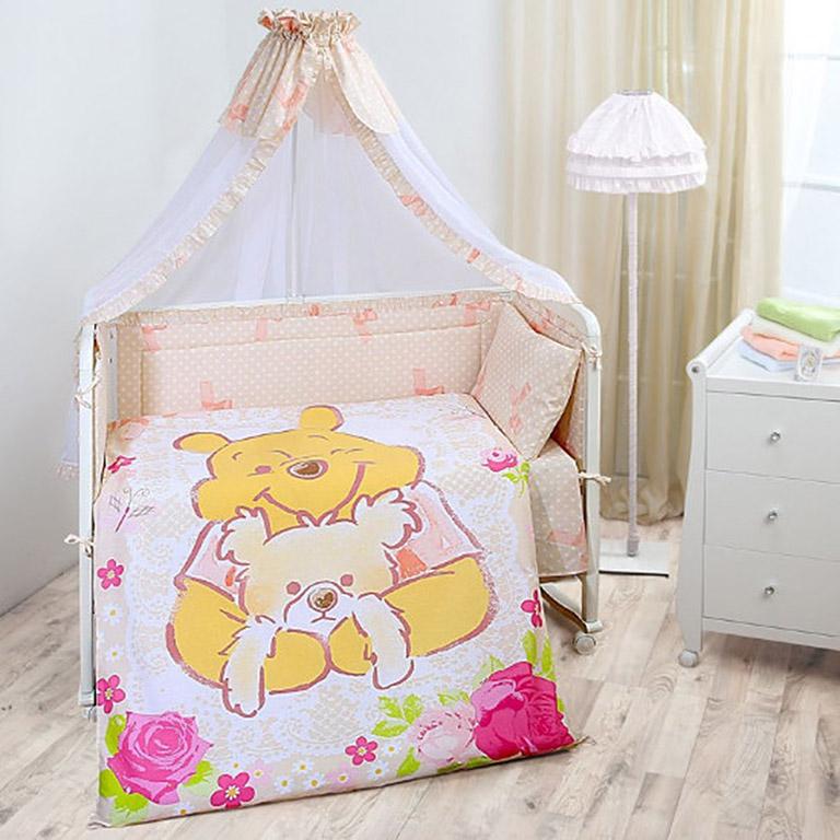 521261 Комплект в кроватку детский (Винни Винтаж)