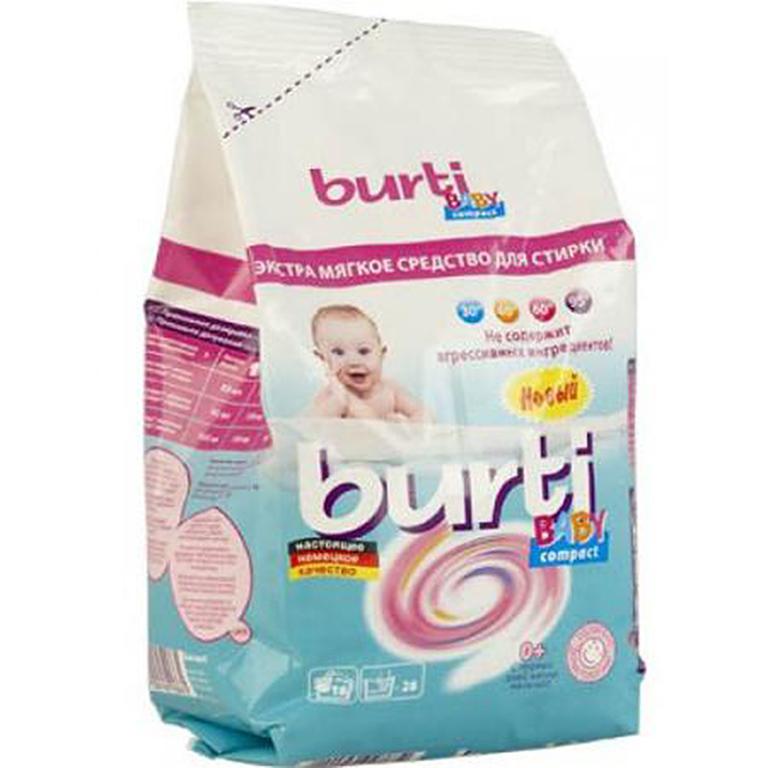 BURTI Конц стиральный порошок для детского белья 0,9 кг
